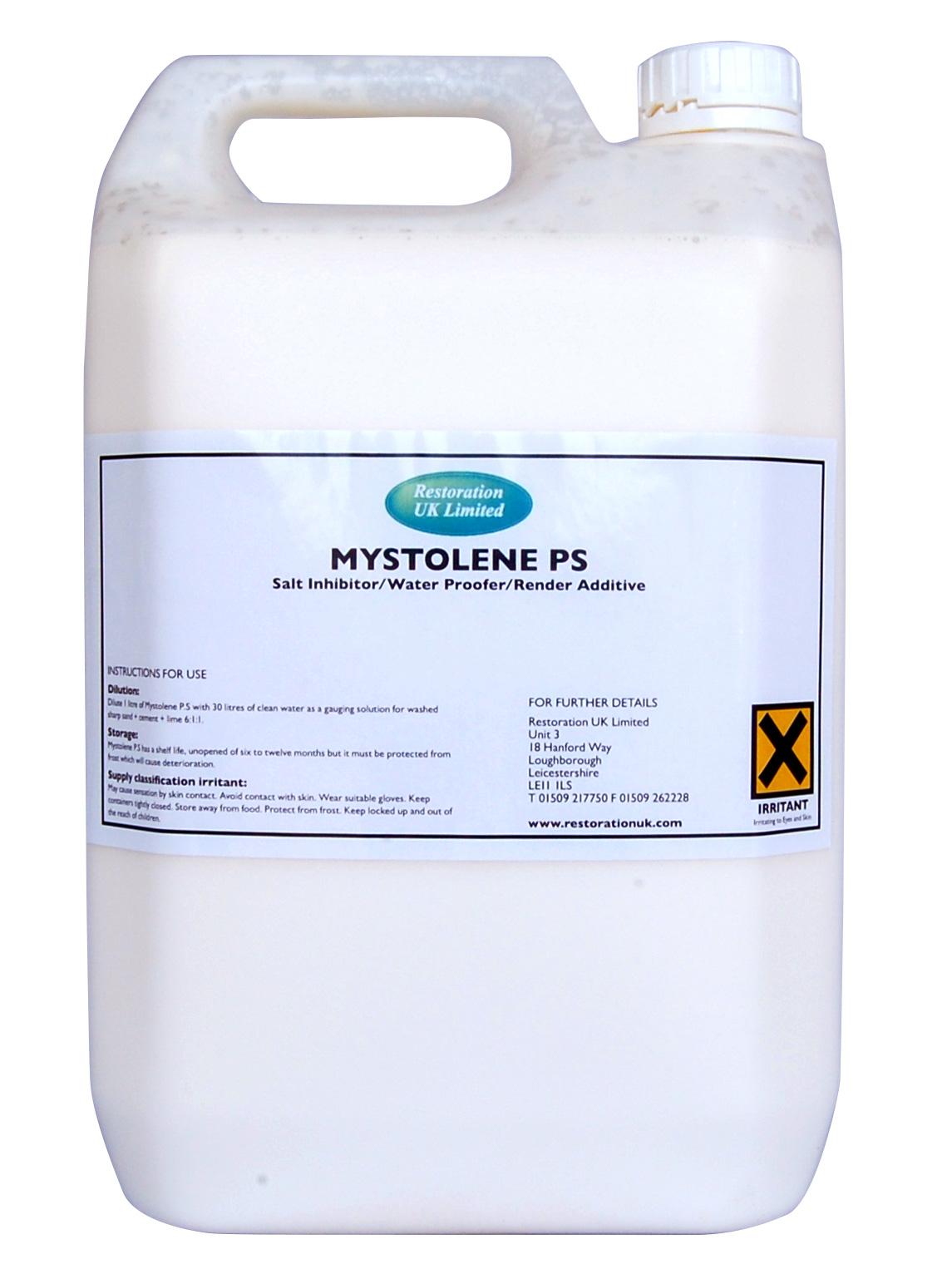 Mystolene PS – Lime Render Waterproofing Plaster Additive & Damp Salt  Inhibitor